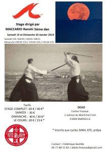 Affiche Stage Maccario Renshi janvier 2019